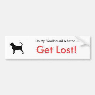 Dogsilhouette-bloodhound-t, Do My Bloodhound A ... Bumper Sticker