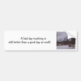 Dogsledding fun bumper sticker
