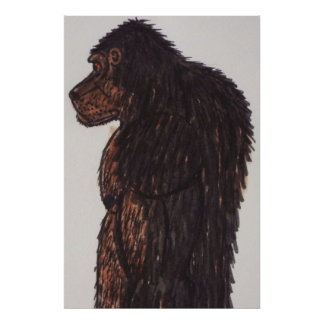 Dogsquatch man 7 ft life size poster