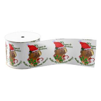 Dogue de Bordeaux Christmas Grosgrain Ribbon