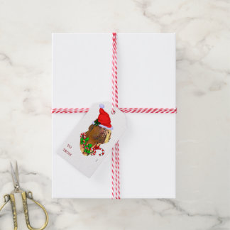 Dogue de Bordeaux Christmas Pack Of Gift Tags