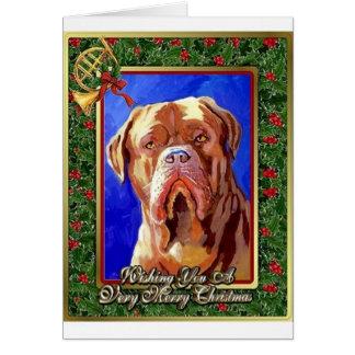Dogue De Bordeaux Dog Blank Christmas Card