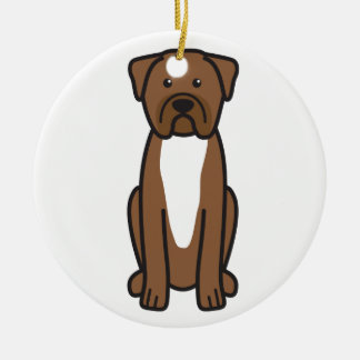 Dogue de Bordeaux Dog Cartoon Ceramic Ornament
