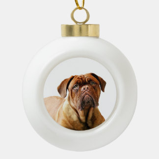 Dogue de Bordeaux Dog Ceramic Ball Ornament