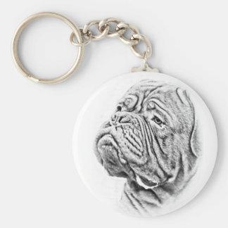Dogue De Bordeaux - French Mastiff Keychain