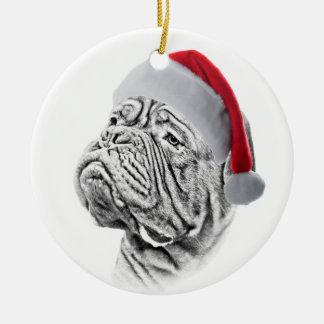 Dogue De Bordeaux - French Mastiff Round Ceramic Ornament