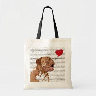 Dogue De Bordeaux Love Balloon Tote Bag