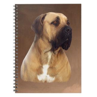 Dogue De Bordeaux Mastiff Dog Portrait Painting Notebooks