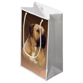 Dogue De Bordeaux Mastiff Dog Portrait Painting Small Gift Bag