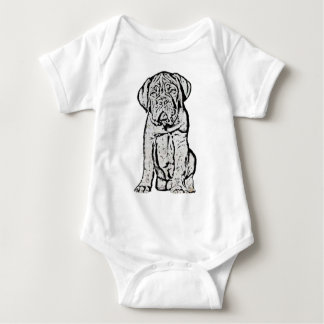 Dogue de Bordeaux puppy baby Baby Bodysuit