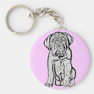 Dogue de Bordeaux puppy kechain Keychain
