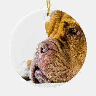 Dogue de Bordeaux Round Ceramic Ornament