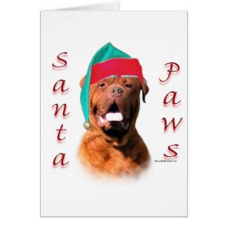 Dogue de Bordeaux Santa Paws Card