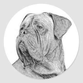Dogue de Bordeaux small stickers