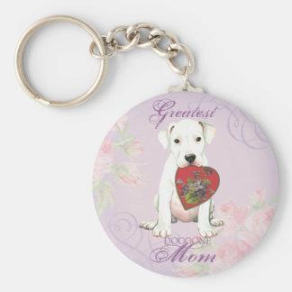 Dogue Heart Mom Basic Round Button Keychain