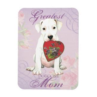 Dogue Heart Mom Rectangular Photo Magnet