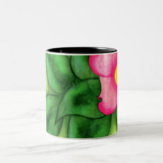 Dogwood Blossom Two-Tone Coffee Mug
