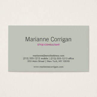 DOGWOOD BLOSSOMS TAN/IVORY BUSINESS CARD