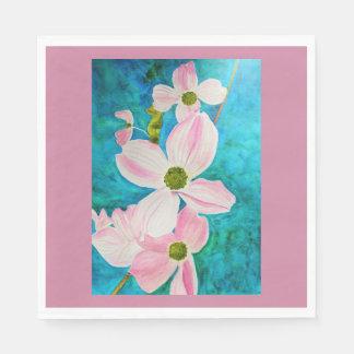 Dogwood Dreams Watercolor Disposable Napkins
