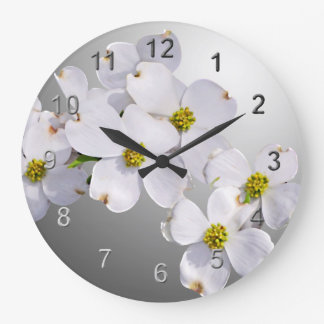 Dogwood Flowers Large Clock