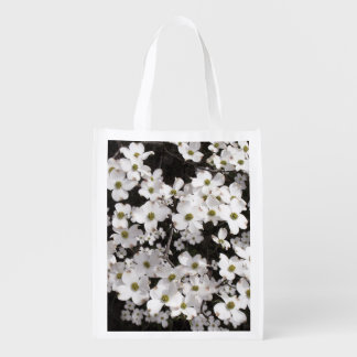 Dogwood Flowers Reusable Grocery Bag