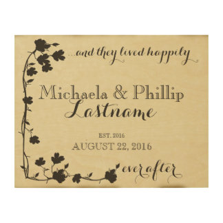 Dogwood Happily Ever After Couple Wood Wall Decor