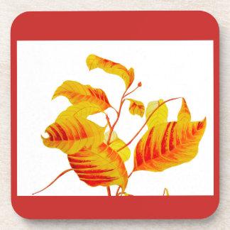 Dogwood Leaves on Coasters