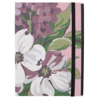 "Dogwood & Lilacs Fine Vintage Floral Wallpaper iPad Pro 12.9"" Case"
