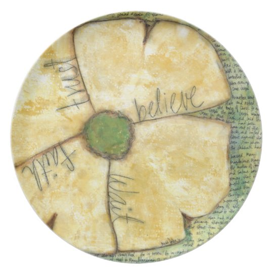 Dogwood Melamine Plate