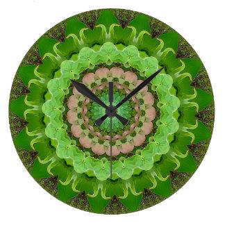 Dogwood Peace Mandala Large Clock