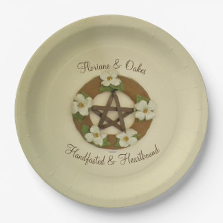 Dogwood Pentacle Handfasting Paper Plate