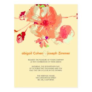 Dogwood/pink/peach/wedding Invitations postcards