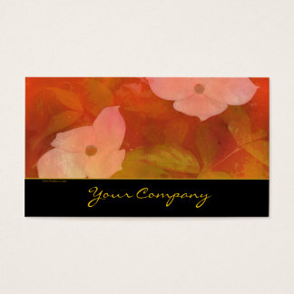 Dogwood Red Orange Watercolor Business Card