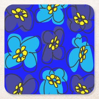 Dogwood Retro Coaster Customizable in Blue