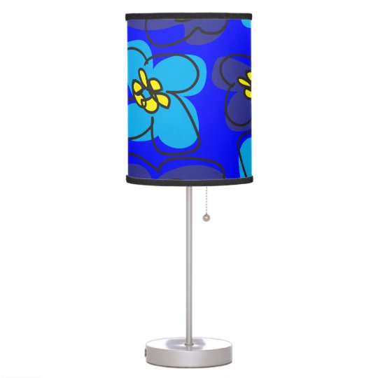 Dogwood Retro Lamp in Mysterious  Deep Blue