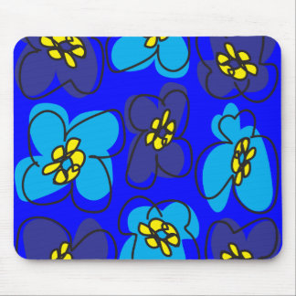 Dogwood Retro Mousepad in Mysterious  Deep Blue