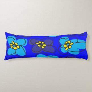 Dogwood Retro Reversible Pillow in Blue and Green