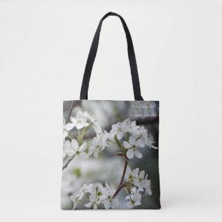 Dogwood spring bloom tote bag