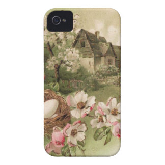 Dogwood Tree Bird Nest Egg Cottage iPhone 4 Case-Mate Cases
