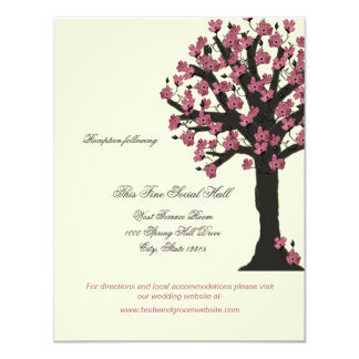 Dogwood Tree Wedding Reception Information Card