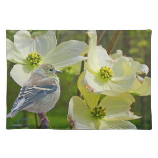Dogwood Visitor - Finch Placemat