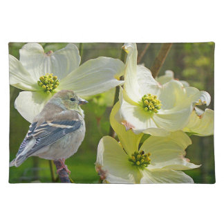 """Dogwood Visitor"" Finch Songbird Placemat"