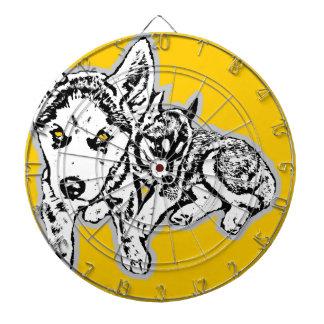 Dogwwod Puppies Dartboard With Darts