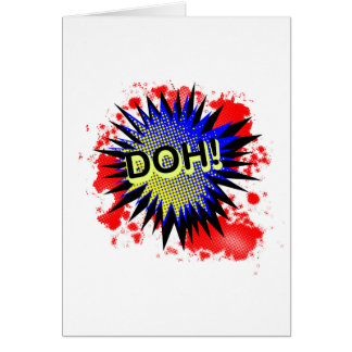 Doh Comic Exclamation Card
