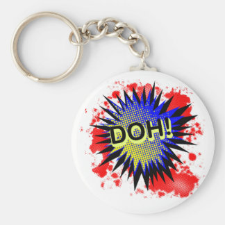 Doh Comic Exclamation Keychain
