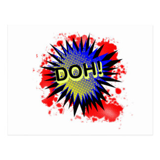 Doh Comic Exclamation Postcard