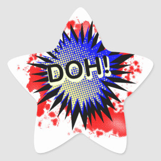 Doh Comic Exclamation Star Sticker