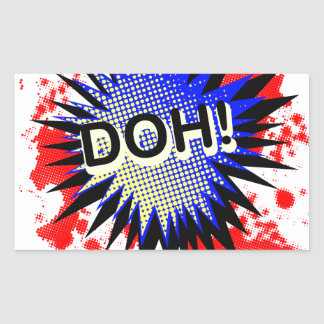 Doh Comic Exclamation Sticker
