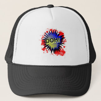 Doh Comic Exclamation Trucker Hat