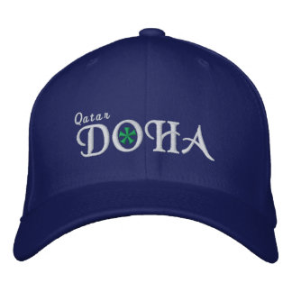 Doha City - Qatar Embroidered Hat